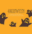 halloween background with ghost collection vector image vector image