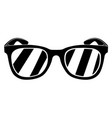 hipster glasses silhouette vector image