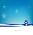 honduras ribbon flag on blue sky background vector image vector image