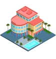 Hotel building isometric vector image vector image