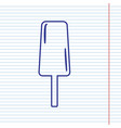 ice cream sign navy line icon on notebook vector image vector image
