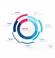 infographic round chart template seven vector image vector image