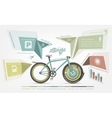 infographics benefits of bicycle use for humans vector image vector image