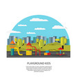 kids amusement and entertainment concept vector image vector image