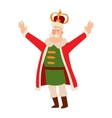 King cartoon character vector image vector image