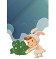 little girl or boy hunting decorative chocolate vector image vector image