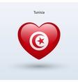 Love Tunisia symbol Heart flag icon vector image vector image
