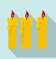 magic burning candle icon flat style vector image