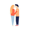 man and woman hugging vector image