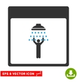 Man Shower Calendar Page Eps Icon vector image vector image