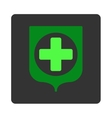 Medical Shield Flat Button vector image vector image
