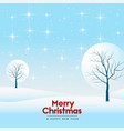 merry christmas beautiful winter landscape vector image