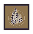 olive flower drawing isolated icon vector image