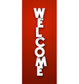 paper welcome sign