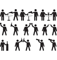 Pictogram people drinking vector image