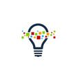 pixel idea logo icon design vector image vector image
