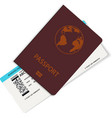 realistic airline ticket or boarding pass design vector image vector image