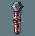 rock microphone vector image vector image