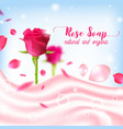 rose natural organic soap poster vector image