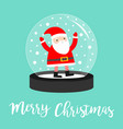 santa claus icon crystal ball with snow merry vector image