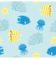 Sea pattern vector image vector image