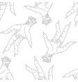 Seamless pattern with chicken legs