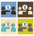 set of unusual look tumblr social media icons vector image vector image