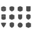 Set of vintage frames shapes and forms for logo vector image vector image