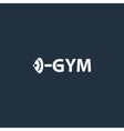 Sport gym logo with barbell vector image vector image