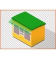 Store flat kiosk 3d vector image vector image