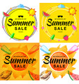 summer sale banners scribble circle backgrouns vector image