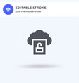 unlocked icon filled flat sign solid vector image vector image