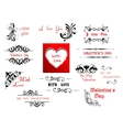 Valentines Day holiday scripts and headers vector image vector image