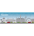 Vienna Skyline with Gray Buildings vector image