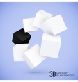 white and black cubes circle vector image