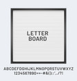white letter board with font abc and numbers vector image