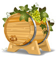 wine barrel vector image vector image