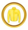 Yellow man shirt icon vector image