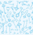 pattern keys vintage texture for clothes vector image