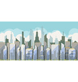 Daytime view of the city with skyscrapers vector image