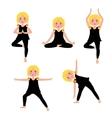 Children yoga set vector image