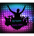 Poster template for disco party vector image