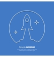 Rocket startup line art poster vector image