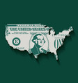 a stylized one dollar bill in the shape of america vector image