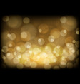 abstract gold bokeh light on black night luxury vector image