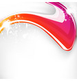 abstract wave colorful background with spark vector image