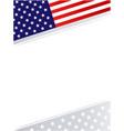 american flag symbols patriotic background frame vector image vector image