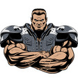 american football player in equipment vector image