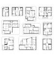 architecture design blueprint plan set vector image