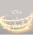 awesome christmas lights with snowflakes vector image vector image